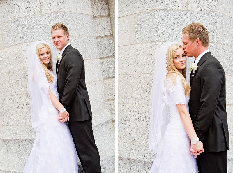 Beautiful Salt Lake Temple Wedding City Photographer